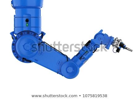kék · robotikus · kar · fehér · izometrikus · ipari - stock fotó © studioworkstock