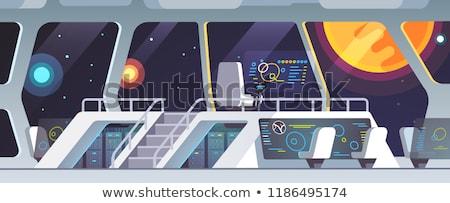navigational cabin of the spaceship stock photo © studiostoks