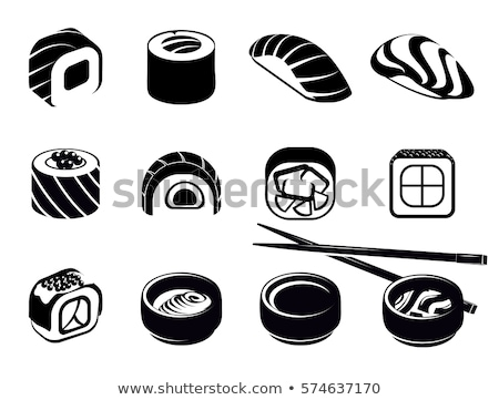 sushi icon in different style stock photo © sidmay