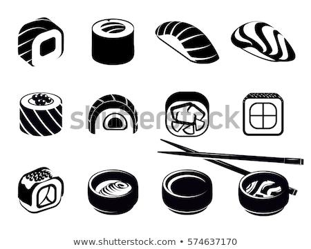 vektor · logo · japán · étel · szusi · üzlet · étel - stock fotó © sidmay