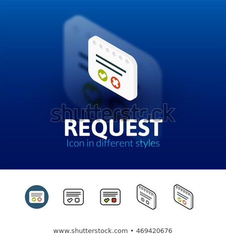 Solicitar icono aislado color vector Foto stock © sidmay
