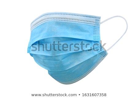 Máscara cirúrgica médico ciência clínica fundo branco higiene Foto stock © IS2
