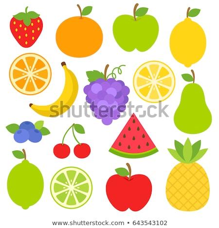 çilek meyve karikatür çizim dizayn yalıtılmış Stok fotoğraf © hittoon