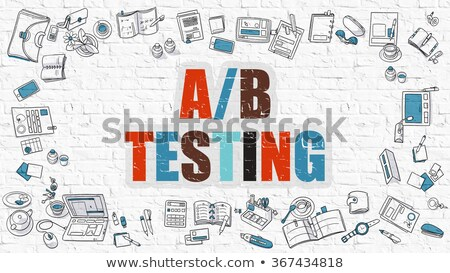 Intelligencia tesztelés oktatás szolgáltatás fehér fal Stock fotó © tashatuvango