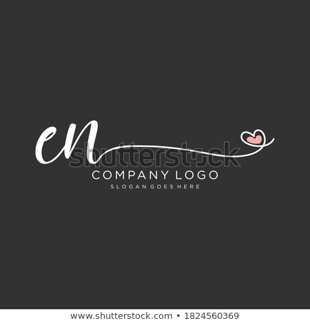 nature and initial letter en logo concept logo template stock photo © taufik_al_amin