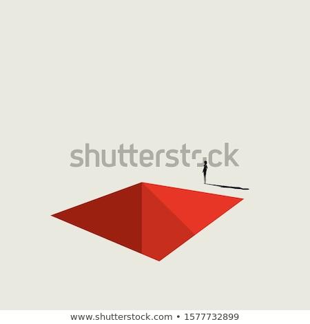 Negócio depressão ilustração isolado branco fundo Foto stock © alexmillos