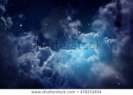 Night starry sky with clouds Stock photo © bedlovskaya
