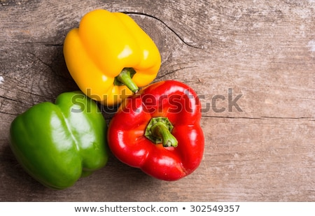 Citromsárga piros paprika növény illusztráció természet Stock fotó © bluering