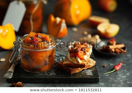 Vidro doce passas de uva branco comida Foto stock © Digifoodstock