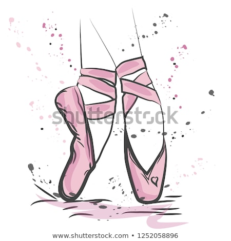 Boceto zapatos estilo mano belleza Foto stock © frescomovie