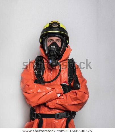 Firefighter man sickness Stock photo © toyotoyo