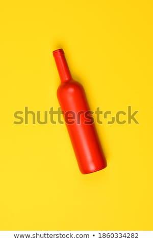 Foto stock: Vacío · vidrio · botellas · mentir · amarillo · oscuridad