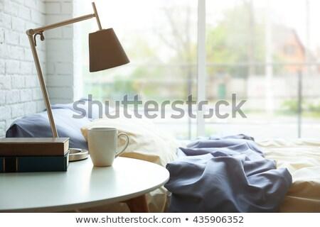 ベッド 表 サイド 枕 ベッド 現代 ストックフォト © dashapetrenko