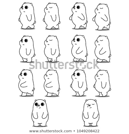 Sprite sheets walking template Stock photo © bluering