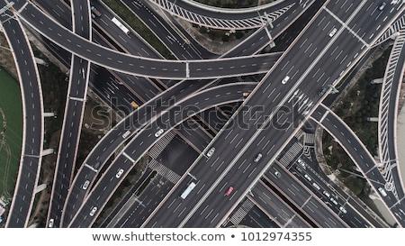 Felső kilátás autók út forgalom autópálya Stock fotó © gomixer