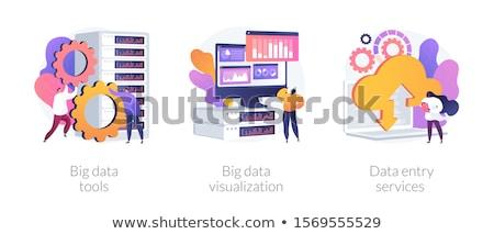 Big data tools concept vector illustration. Stock photo © RAStudio