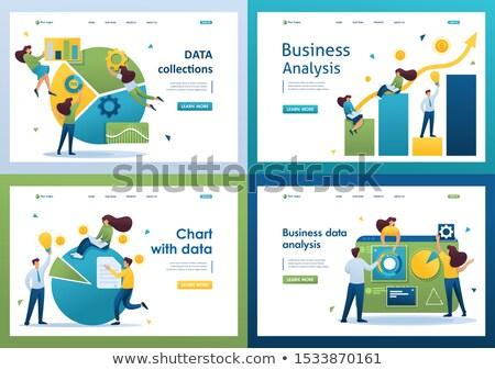 Analytics collectie statistiek graphics vlaggen Stockfoto © robuart