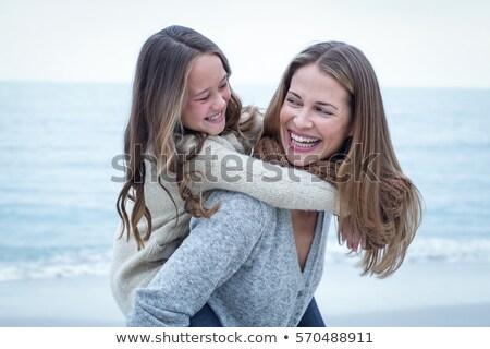 mamá · hija · amanecer · caucásico · madre - foto stock © dolgachov