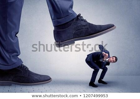 Fiatal üzletember jóképű nagy hivatalos cipő Stock fotó © ra2studio