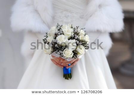 Noiva mãos belo buquê de casamento Foto stock © ruslanshramko