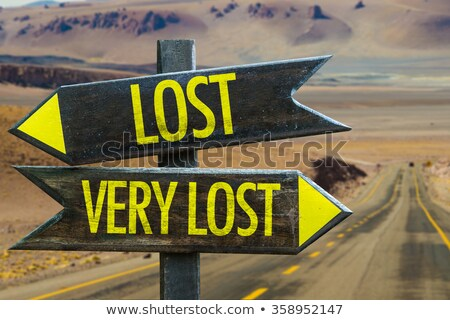Uncertain explorer is lost in a desert Stock photo © alphaspirit