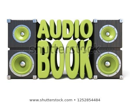 fones · de · ouvido · velho · livros · isolado - foto stock © djmilic