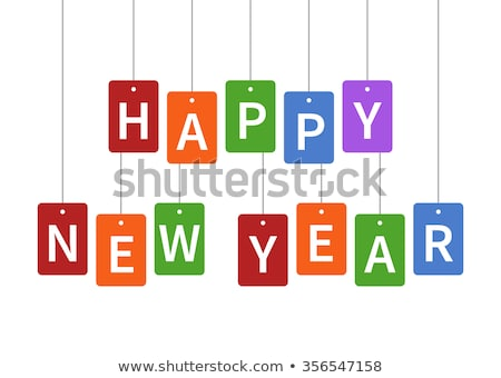 2019. Happy New Year. Greeting card with colorful rainbow Stock photo © FoxysGraphic