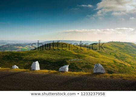 丘 美しい 風景 空 水 自然 ストックフォト © iko
