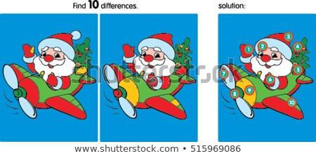 Vinden verschillen kerstman kleur boek zwart wit Stockfoto © izakowski