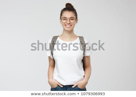 studio · portrait · souriant · fille · école - photo stock © monkey_business