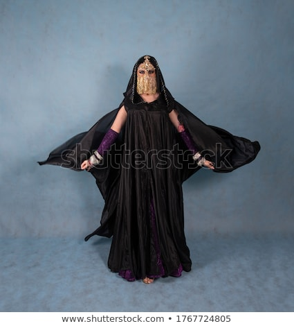 Nun in black outfit Stock photo © colematt
