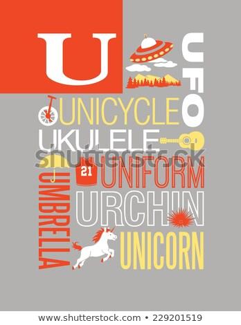 urchin childrens alphabet vector illustration stock photo © robuart