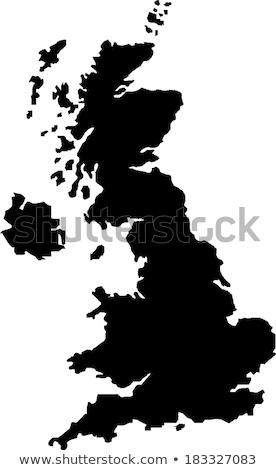 Egyesült · Királyság · EU · zászlók · festett · repedt · beton - stock fotó © lightsource
