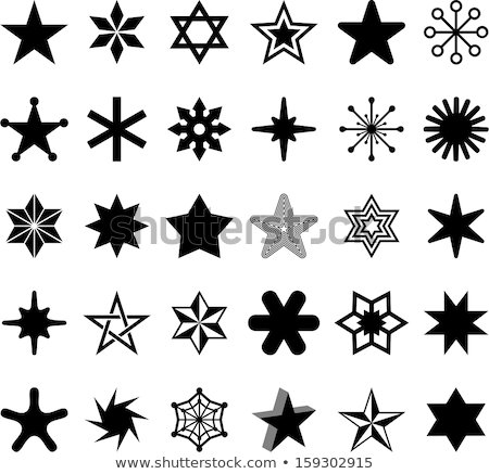 yellow icon star vector symbol geometric sign Stock photo © blaskorizov