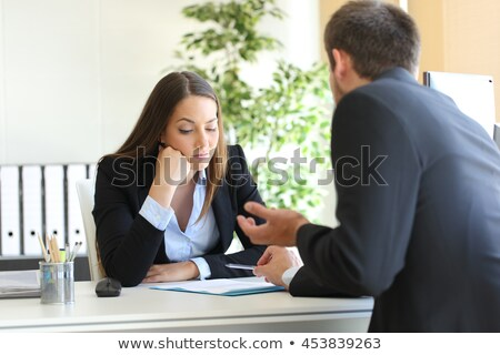 Business Appointment of Man Boss and Woman Client Stock photo © robuart