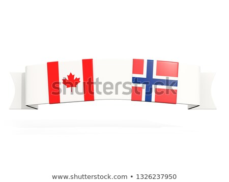 баннер два квадратный флагами Канада Норвегия Сток-фото © MikhailMishchenko