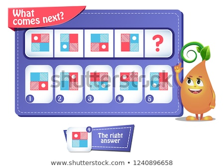 educational game iq comes next puzzle stock photo © olena