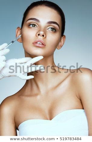 Senhora pele botox ilustração menina médico Foto stock © colematt
