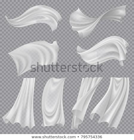 Blanco tela vector tejido seda ventana Foto stock © pikepicture