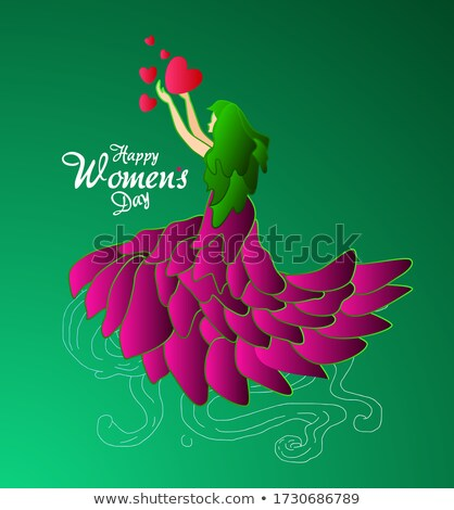 Womens Day is every day poster of woman group Stock photo © cienpies