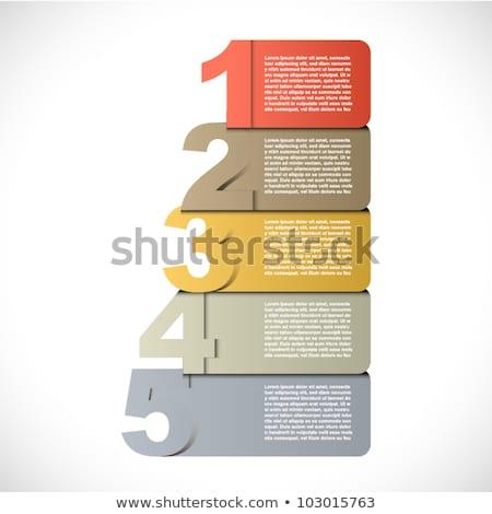 Numero cinque guidare illustrazione sfondo arte Foto d'archivio © colematt