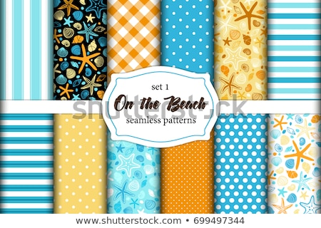 vector seafood set pattern stock photo © netkov1