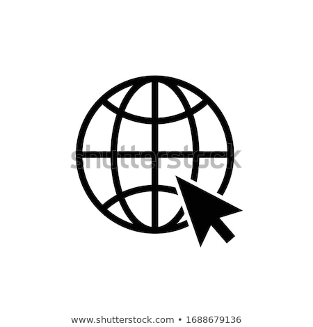 Egyszerű globális hozzáférés vektor ikon vonal Stock fotó © WaD