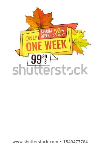 эксклюзивный предлагать благодарение специальный цен плакатов Сток-фото © robuart