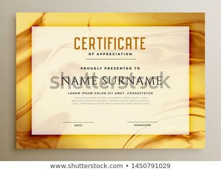 Marmo texture certificato design Foto d'archivio © SArts