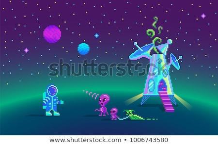 Naprendszer bit videojáték pixel művészet retro Stock fotó © Krisdog