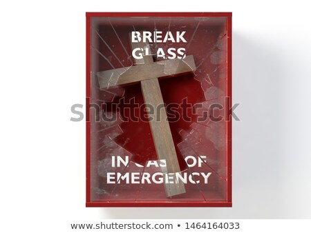 Emergency Red Box With Crucifix Stock photo © albund