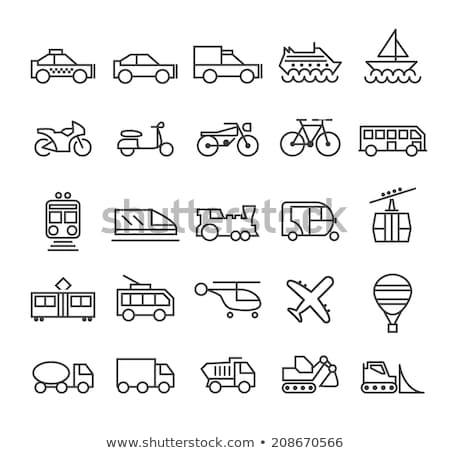 Public Transport Rickshaw Vector Thin Line Icon Stock photo © pikepicture