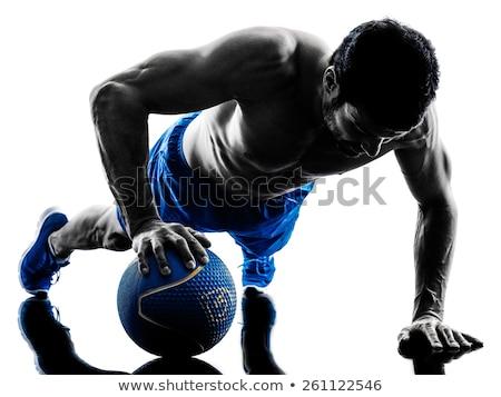 Push-Ups On Medicine Ball Stock photo © Jasminko