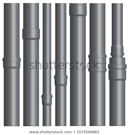 Ingesteld plastic pijpen rioolwater water Stockfoto © kup1984